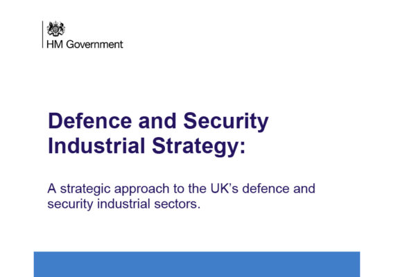 Defence and Security Industrial Strategy